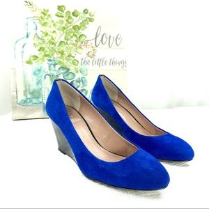 Vince Camuto Melle Blue Suede Wedges